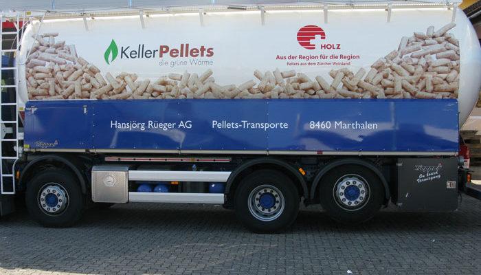 Lastwagenbeschiftung eines Kunden aus Marthalen