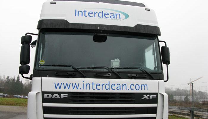 Interdean Lastwagen Beschriftung