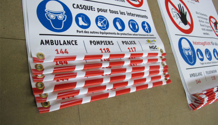 Sicherheits-Blachen für den Bau