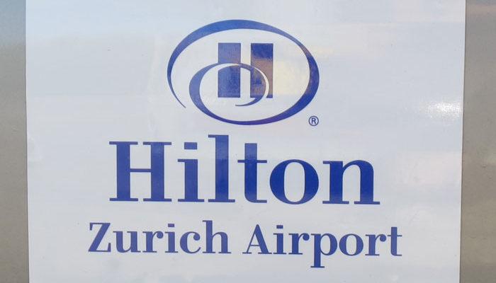 Magnetschild für Hilton