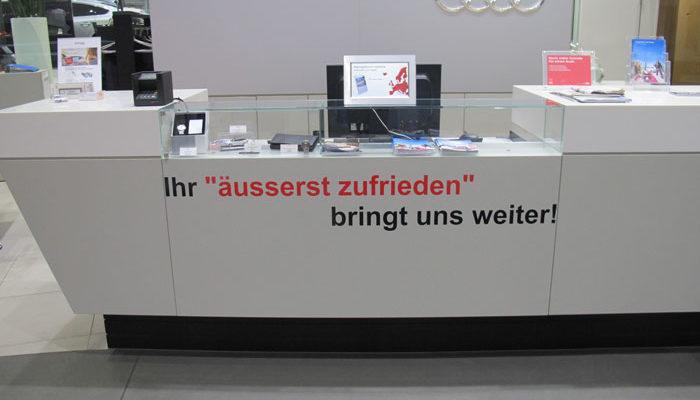 Arbeitsplatz Beschritung von Amag Schaffhausen