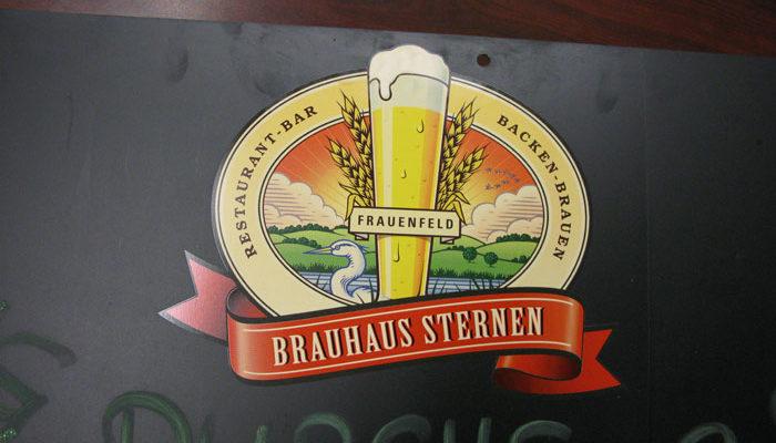 Beschriftung von Brauhaus Frauenfeld mit Logo
